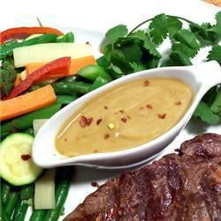Coconut Satay Sauce @ allrecipes.com.au. This recipe is simple and absolutely delicious!!!