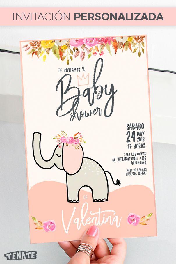 29 best coisinhas de beb images on pinterest sheep babies stuff invitacin baby shower nia una preciosa invitacin de elefante que se puede personalizar con el stopboris Image collections