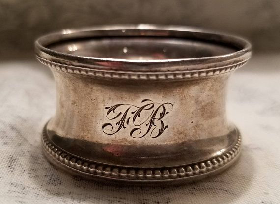 Silver Late Victorian Beautifully Simple Napkin Ring