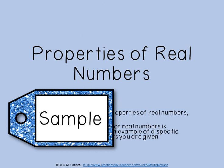 This Power Point slideshow and PDF guided notes for students gives general and specific examples along with descriptions of properties of real numbers for multiplication and division.   The following properties of real numbers are covered: Closure Associative Property Commutative Property Inverse Property Identity Property  Distributive Property