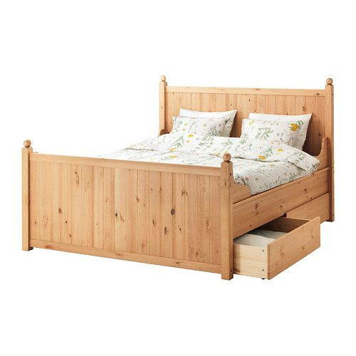 HURDAL Struttura letto con 4 cassetti IKEA È in legno massiccio, un materiale naturale caldo e resistente.
