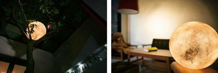 Die effektvolle Lampe wird in Handarbeit gefertigt