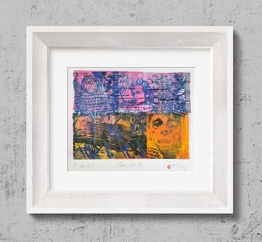 "Saatchi Art Artist Tezcan Bahar; Printmaking, ""Clown Series - 9 - Limited Edition 1 of 1"" #art"