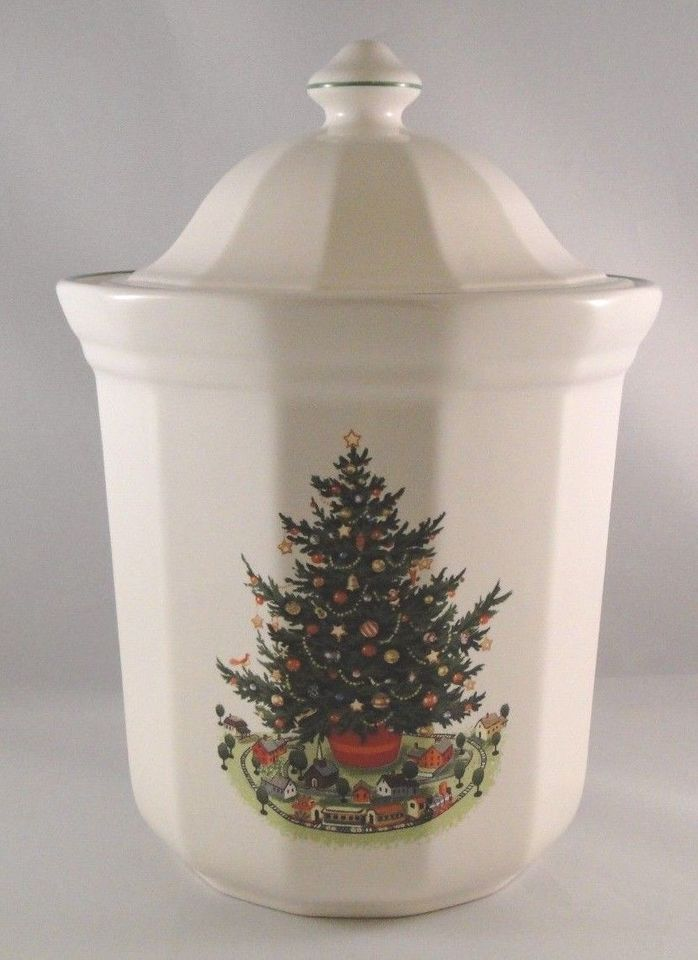 Pfaltzgraff Christmas Heritage Cookie Jar Holiday 1992