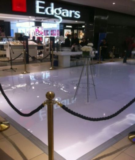 A white ABS Connecta-Floor VIP area in mall April 2015