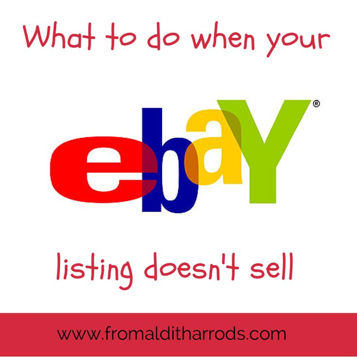 What to do when your eBay listing doesn't sell