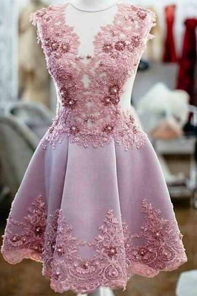 Sexy Prom Dress,Charming Prom Dresses,Lace Evening Dress,Prom Gown,Short