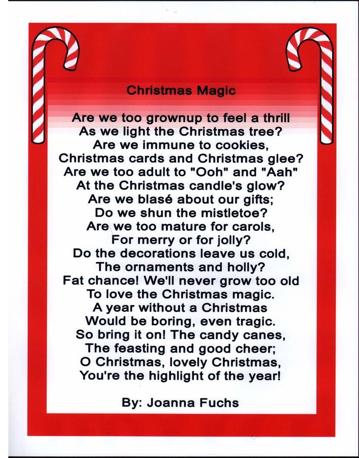 Poem Christmas Magic Christmas poems, Magical