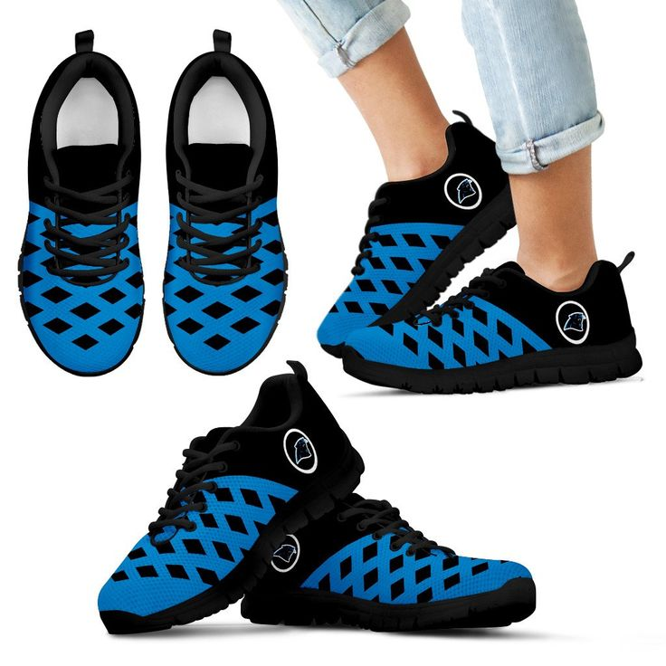 Two Colours Cross Line Carolina Panthers Sneakers – Best Funny Store