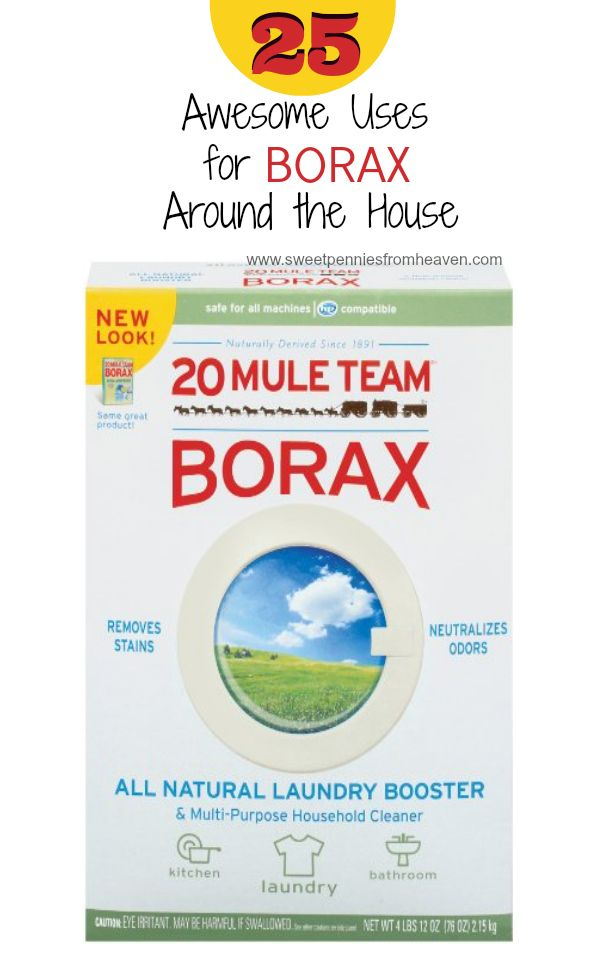 Did you know that Borax has all kinds of awesome uses for around the house? Here are 25 awesome uses for borax from getting rid of pesky critters to topical uses. Super thrifty, natural and it works like a boss!!