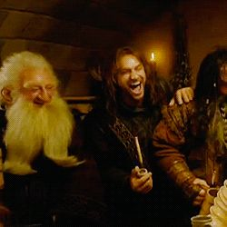(GIF) Love. The internet is like a ticking bomb to me right now. I can't get on without spiraling into a pit of Hobbit spamming. XD I regret nothing...