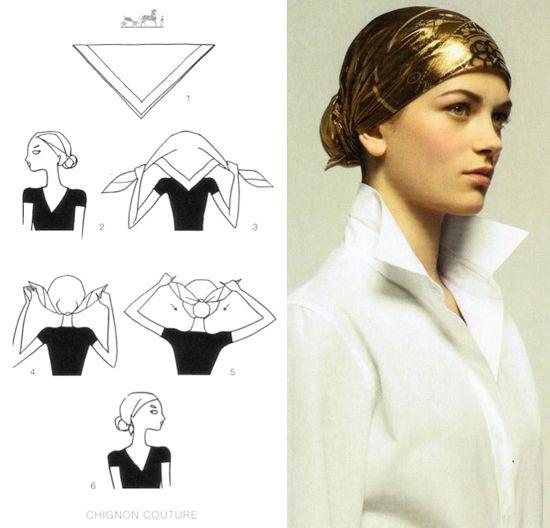 151 Hermes scarf knotting cards part. 2 diy ideas accessori gioielli slider Hermes foulards fai da te D.I.Y. Cristina accessori