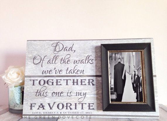 Father of bride gift gift for dad wedding gift by TheGreenDovecote
