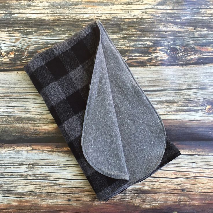 Gorgeous black buffalo plaid baby or toddler blanket with the softest grey French Terry on the back. Only one left!  https://www.etsy.com/listing/251062938/one-leftblack-plaid-flannel-baby-blanket
