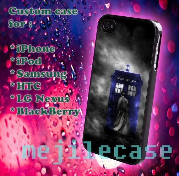 Sherlock holmes and Tardis iphone 4/4s iphone 5/5s/5c by mejile, $12.10