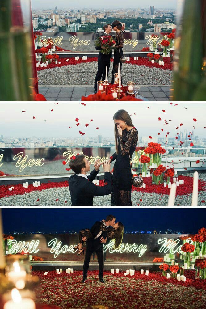 proposal creative romantic proposals engagement prom rose marriage wife petals weddings most dream goals fun candidate proposed he unique perfect