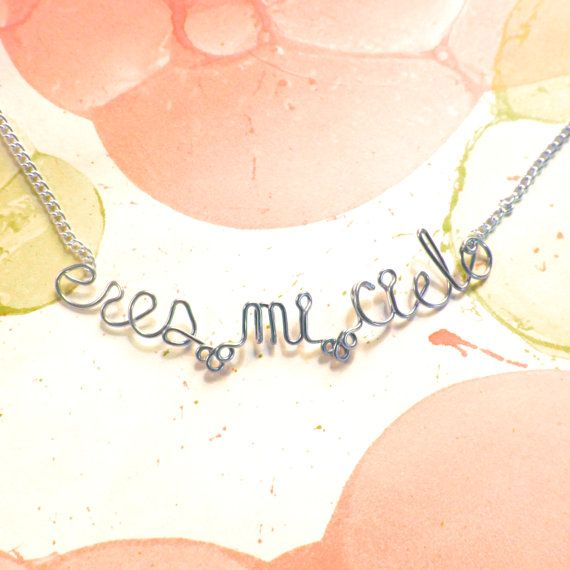 Eres Mi Cielo Necklace  You Are My Heaven My Sky  by Exaltation, $23.00