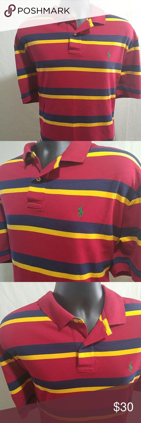 POLO BY RALPH LAUREN Shirt Size XL Striped POLO BY RALPH LAUREN Shirt.  This is a sleeve bold striped shirt sleeve shirt.  This shirt is a size XL.  This POLO BY RALPH LAUREN Shirt is in excellent like new condition. Polo by Ralph Lauren Shirts Polos