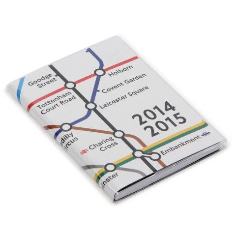 All Change flexi sleeve week to view 2014/15 London Tube planner