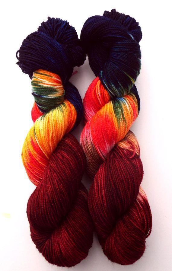 Sock Yarn Devil's Food 100g by DashingDachs on Etsy
