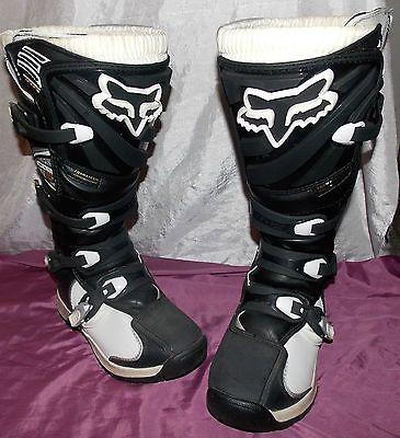 FOX Womens Riding Motocross MX Trail Ride ATV Boots Size 9 Black White