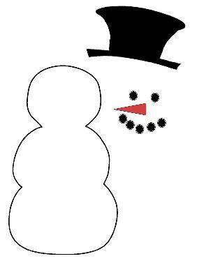 Risultati immagini per molde boneco de neve