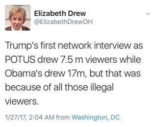 The best memes, tweets and jokes about Donald Trump's presidential inauguration and the beginning of his presidency.: Trump vs. Obama Ratings