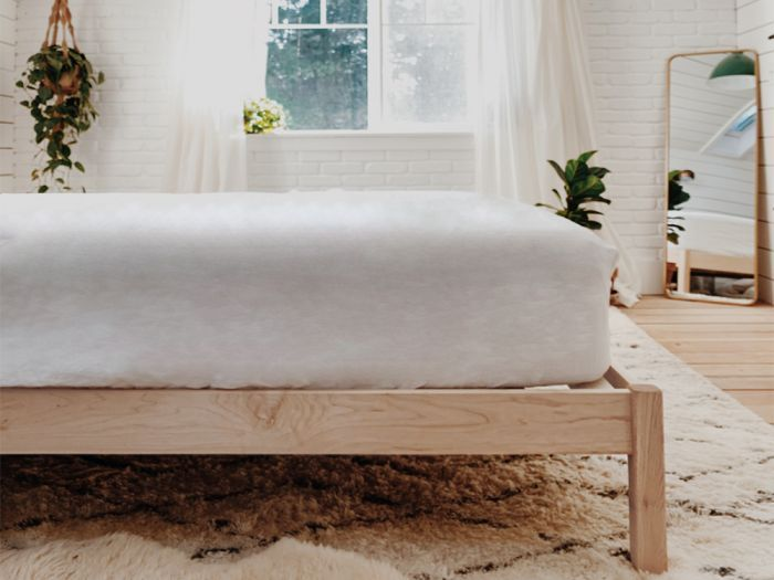 The Hop Natural Bed Frame Maple Choose Size In 2020 Platform Bed Frame Wood Platform Bed Bed Frame