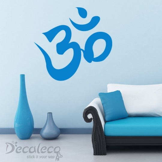 Om - Fill your living space with peace and serenity with this Om wall decal. It's also a nice decor to a yoga studio. www.decaleco.com