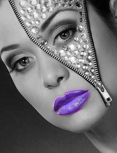 black halloween makeup zipper - Google Search