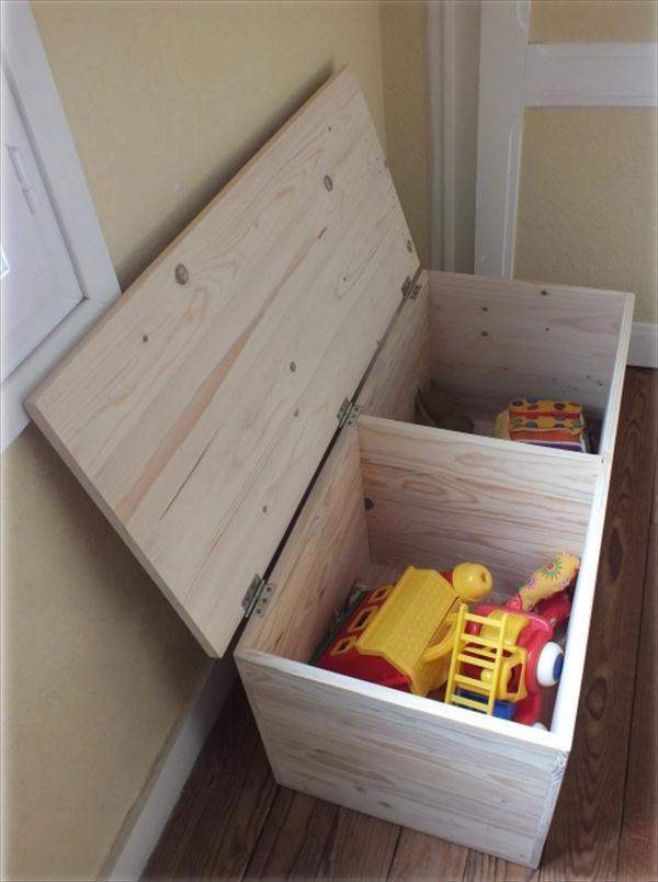 DIY Pallet #Storage Box - Pallet #Chest | 99 Pallets