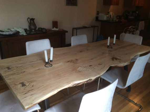 Mesa De Comedor Borde Vivo Arce De Spalted Local Duro Por BmadeNEW