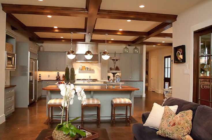 22 best images about kitchens on pinterest kitchen for Decorative beams in kitchen