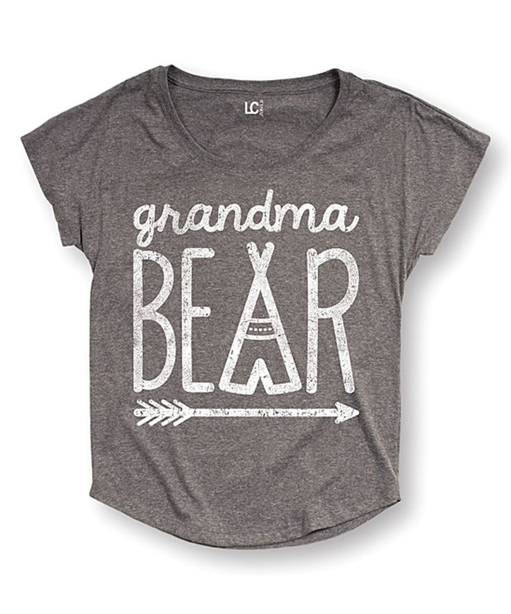 Look at this Athletic Heather 'Grandma Bear' Dolman Tee - Women & Plus on #zulily today!