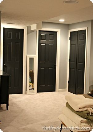 black interior doors --> the more i see it the more i love it!