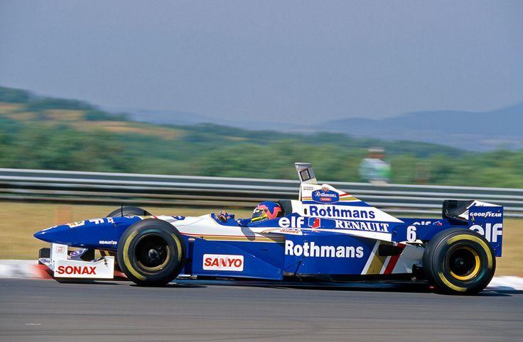 Jacques Villeneuve (Rothmans Williams Renault), Williams FW18 - Renault RS8 3.0 V10, 1996 Hungarian Grand Prix, Hungaroring