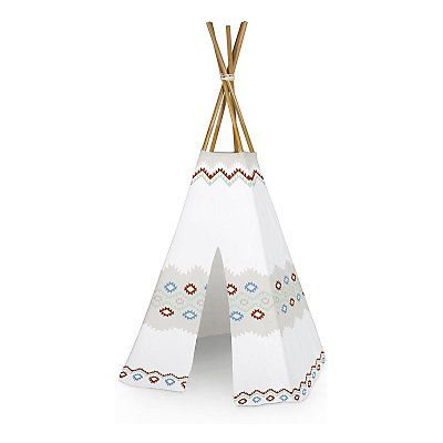 tipi enfant indien blanc et multicolore 100 x 100 x 175 cm cr ation pour l o pinterest. Black Bedroom Furniture Sets. Home Design Ideas