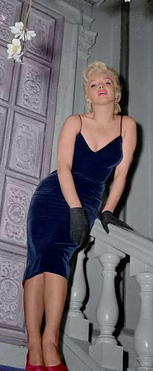 Iconic image of the Hollywood actress and sex symbol Marilyn Monroe