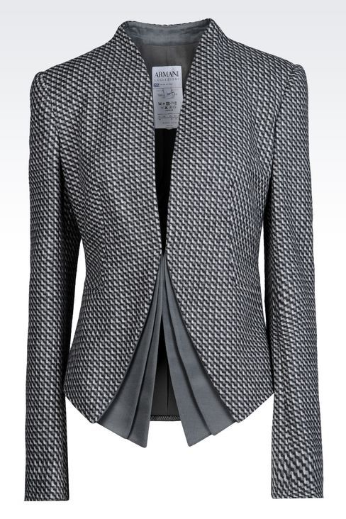Armani Collezioni Women Dinner Jacket - JACKET IN WOOL AND CASHMERE Armani Collezioni Official Online Store