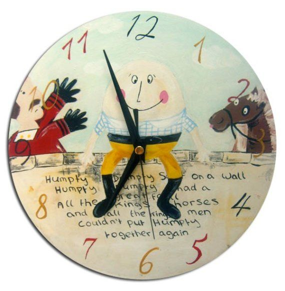 Humpty Dumpty Clock / Children's Nursery by WithHugsandKisses
