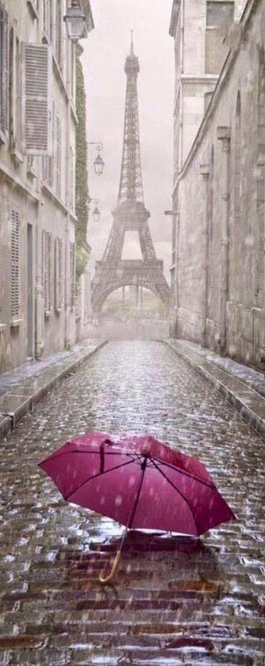 Paris in the rain, France