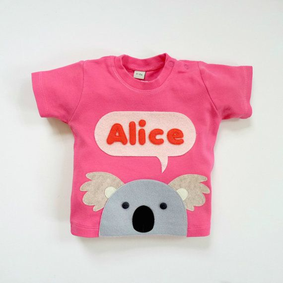 Organic Baby Koala T-Shirt Baby Shower Gift by mypipsqueak on Etsy