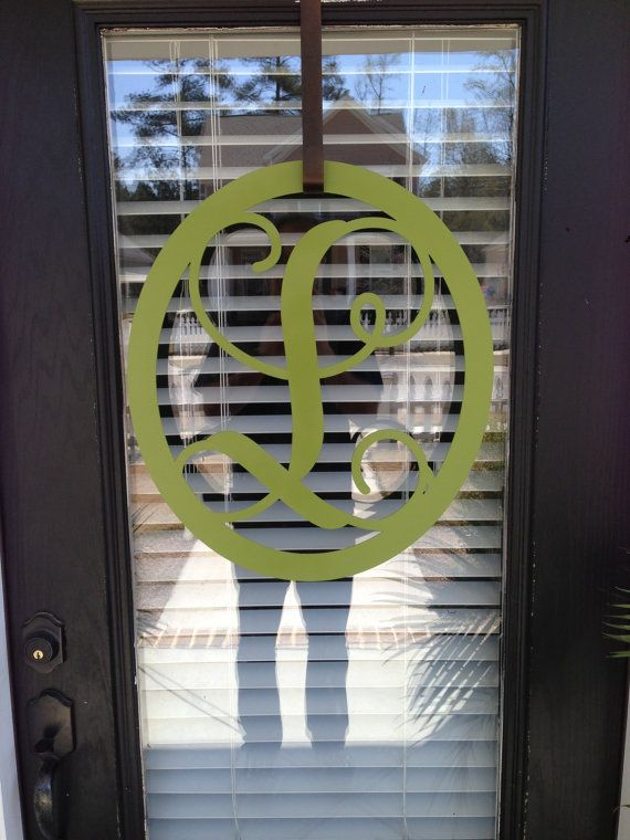 just purchased an l for out front door  monogrammed metal wreath monogrammed wreath by