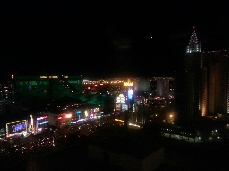 a night view of MGM HOTEL