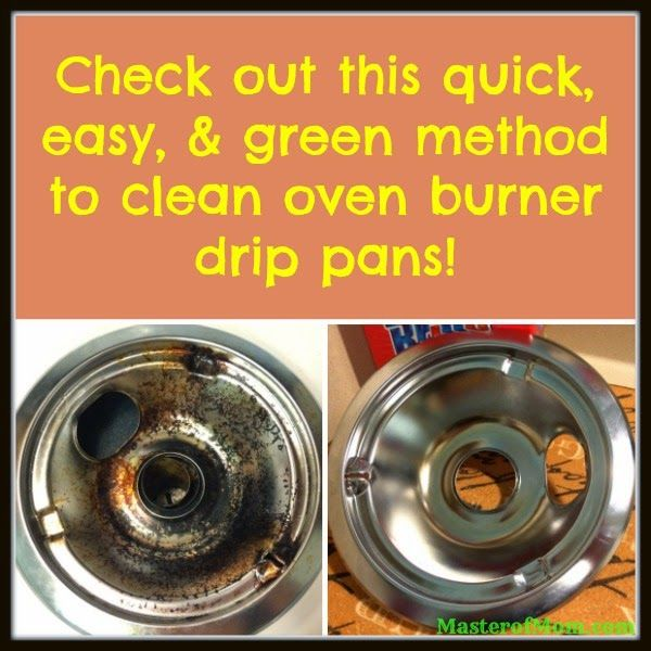 This awesome #cleaning method makes getting your oven burner drip pans #clean super #easy! The best part? No harsh chemicals - this method is #green!