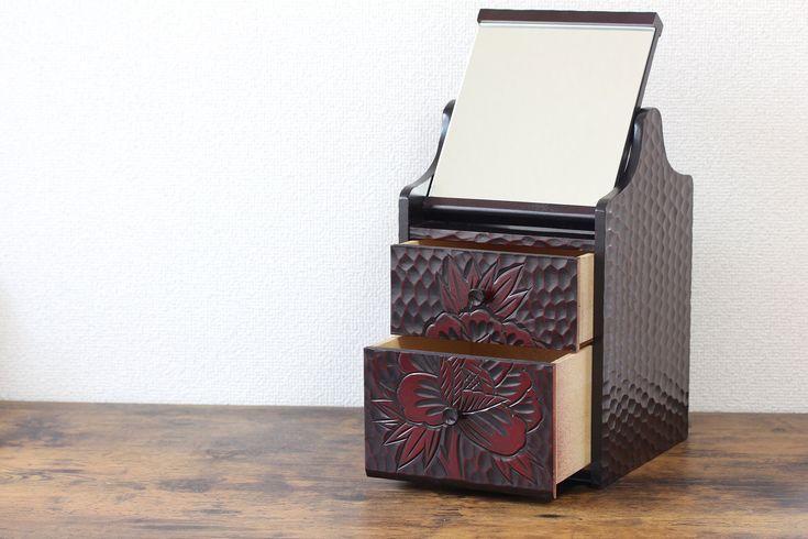 Kamakura-bori Japanese make up box small dresser wooden chest wooden storage box…