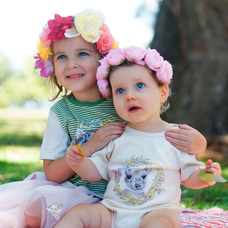 Matilda Kids T-Shirt and baby onesie in organic cotton and ethically made in Australia.