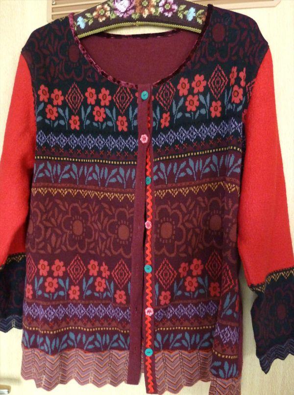 vom Strickkleid zum Jäckchen - refashioned knit dress