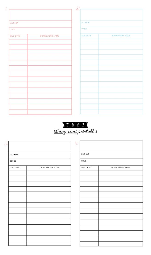 17 Best images about Library Printables