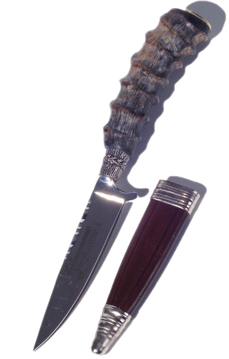 Stockerpoint Trachtenmesser Griff echt Steinbock M206
